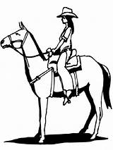 Coloring Pages Cowgirl Horses Horse Riding Cowgirls Printable Colouring Cowboy Fall Whose Recommended Getcoloringpages Crazy Idea sketch template