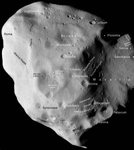 ESA Science & Technology: Annotated map of asteroid (21 ...