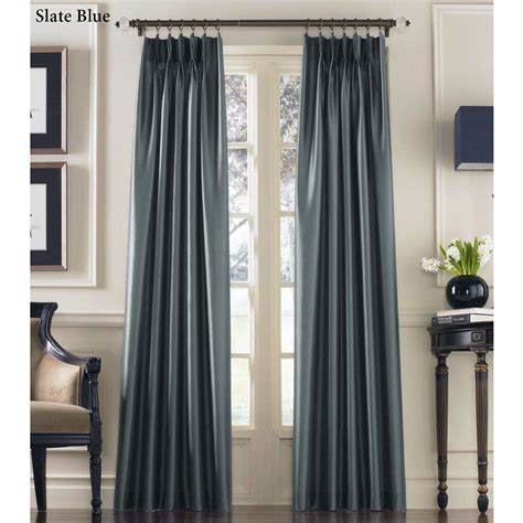 Curtain Panels by Marquee Flared Faux Silk Pinch Pleat Curtain Panels
