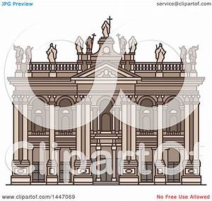 Clipart of a Line Drawing Styled Italian Landmark ...