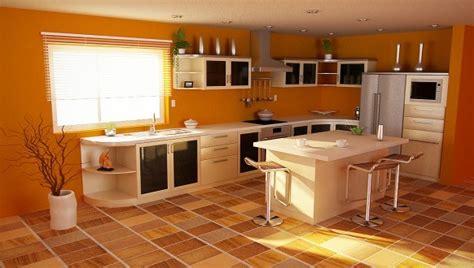 deco cuisine orange modèle deco cuisine peinture orange