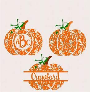 fall pumpkin svg dxf eps circle monogram frame cutting With monogram pumpkin templates