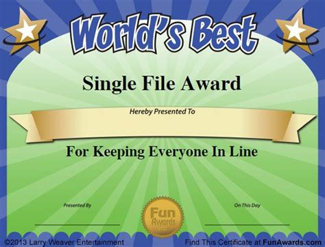 funny award certificates templates sample