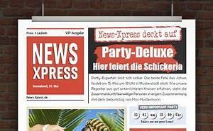Zeitung Selbst Gestalten : drucke selbst originelle vorlagen im zeitungsstil ~ Fotosdekora.club Haus und Dekorationen