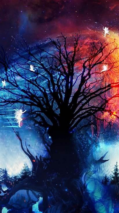 Tree Fairies Night Silhouettes Iphone Galaxy 6s