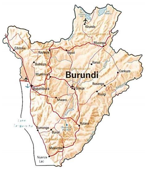 Map of Burundi by Phonebook of Burundi.com