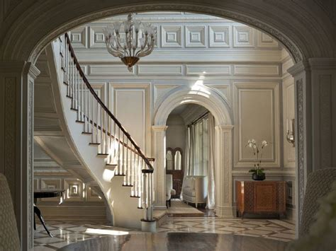 Foyer of a georgian colonial mansion in greenwich CT. I ...