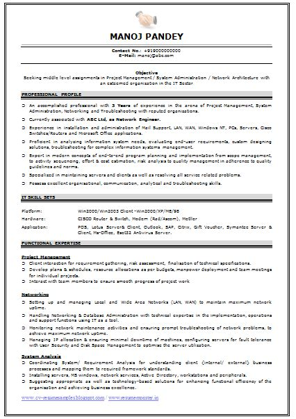 Cv Format For Experienced by Professional Curriculum Vitae Resume Template For All