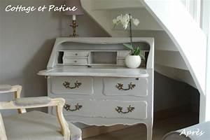 Meuble Secrétaire Ancien : secr taire ancien photo de nouvelle vie pour meubles cottage et patine le blog ~ Teatrodelosmanantiales.com Idées de Décoration