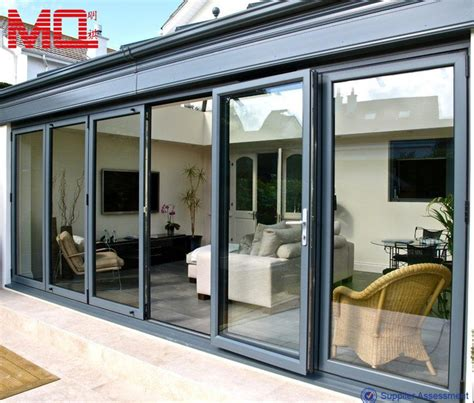 beautiful white aluminum folding patio doors price view