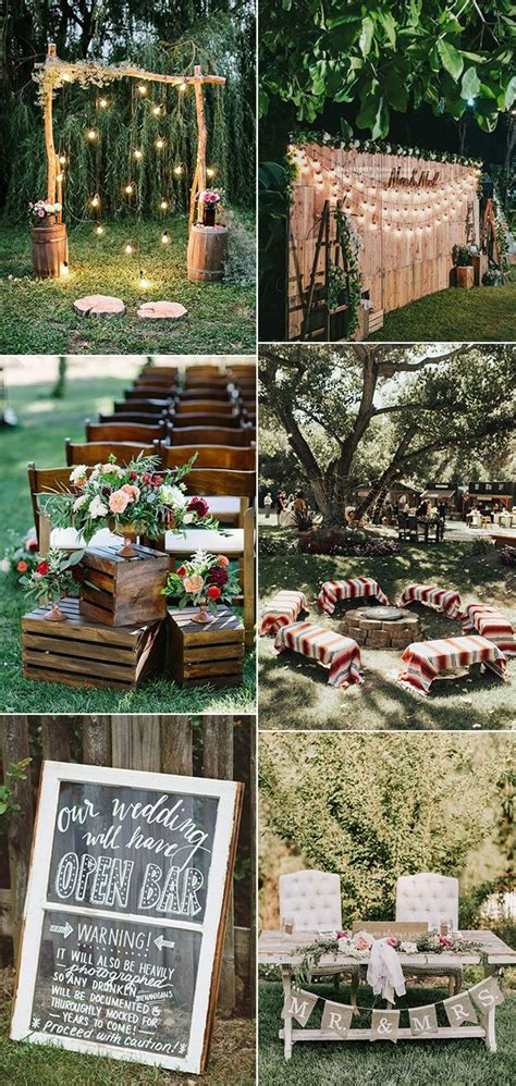 creative backyard wedding ideas   budget