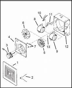 Broan 688 Ventilation Wall Or Ceiling Mount Fan Parts