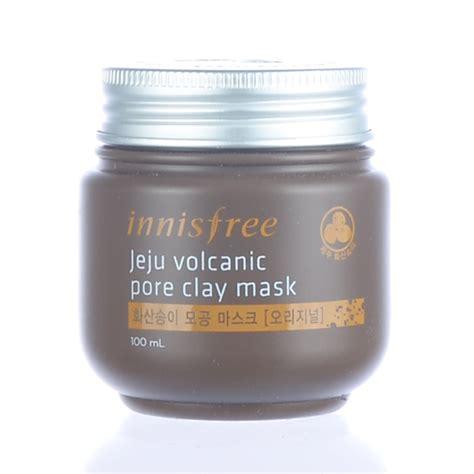 Harga Innisfree Volcanic Pore Clay Mask 100ml korean cosmetic skincare supplies
