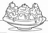 Ice Snow Cream Coloring Pages Cones Print sketch template