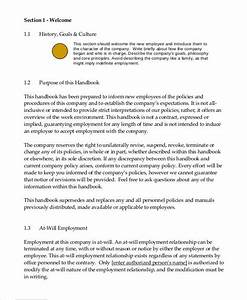 Employee Handbook Template For Small Business  U2013 Nowok