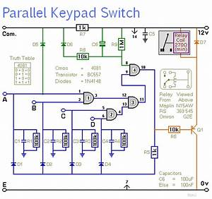 Keypad Switch - With Parallel Code Entry 2