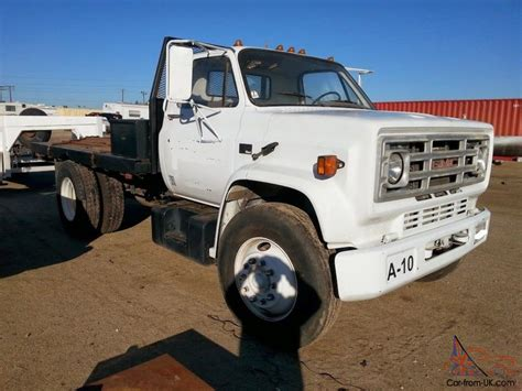 5 Ton Flatbed Diesel Truck, White Single Cab, Bench Seat