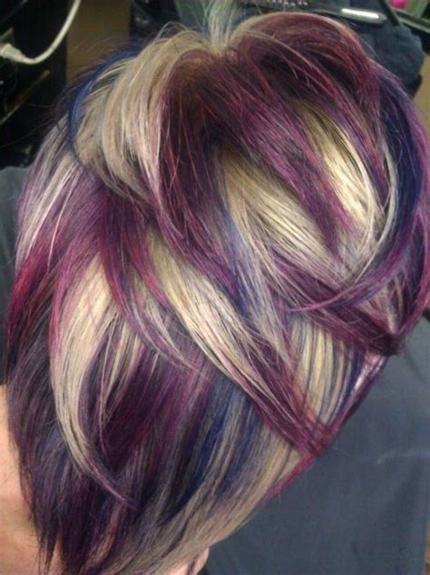Hair Color Trends 2017 2018 Highlights Purple Blue