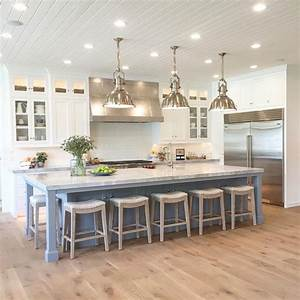 25 best ideas about kitchen island seating on pinterest With kitchen colors with white cabinets with large standing candle holders