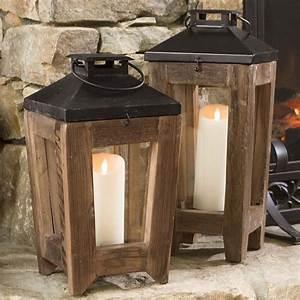 Metal And Woods : rustic reclaimed wood and metal lanterns ~ Melissatoandfro.com Idées de Décoration