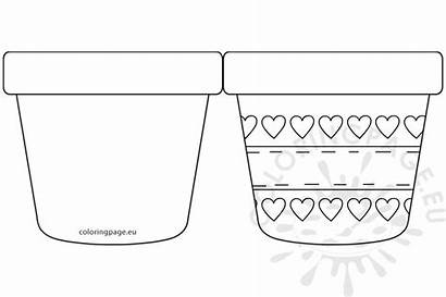 Pot Flower Template Printable Coloring Mothers Mother