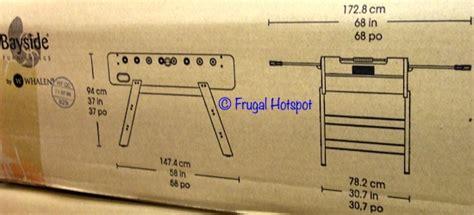 costco bayside furnishings foosball table