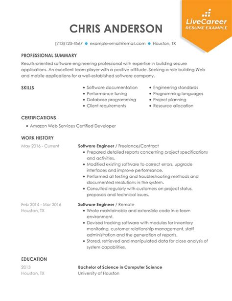Experienced Resume Exles by Developer Roles And Responsibilities In Resume The Best