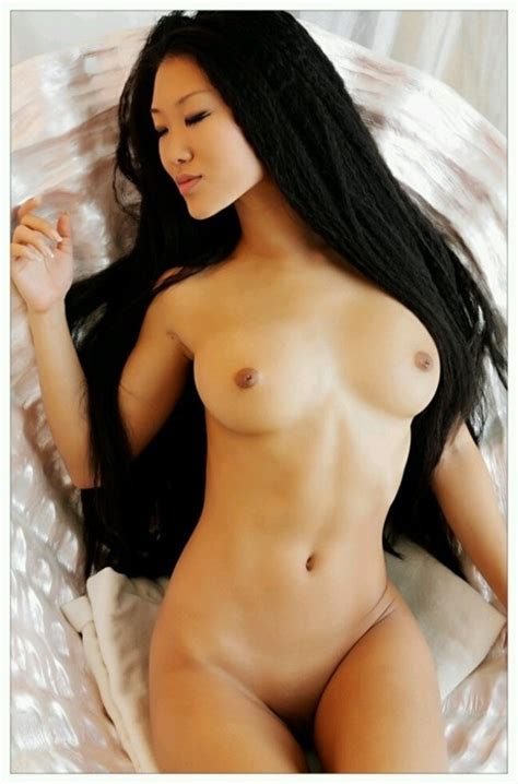 Girl Content Dark Haired Young Japanese Woman Looking For A