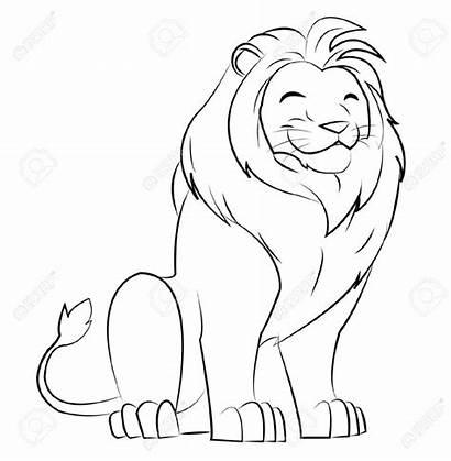 Lion Cartoon Drawing Simple Dessin Draw Easy
