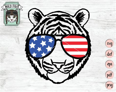 Ready to ship in 1 business day. July 4th Tiger SVG Funny Tiger svg Fourth of July tiger ...