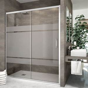 porte de douche coulissante 120 cm serigraphie rhin With porte de douche coulissante avec vasque salle de bain 80 cm