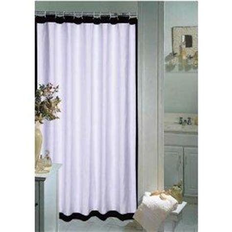 classic black and white polka dot shower curtain