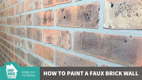 how to paint bricks on a wall painting a faux brick wall youtube