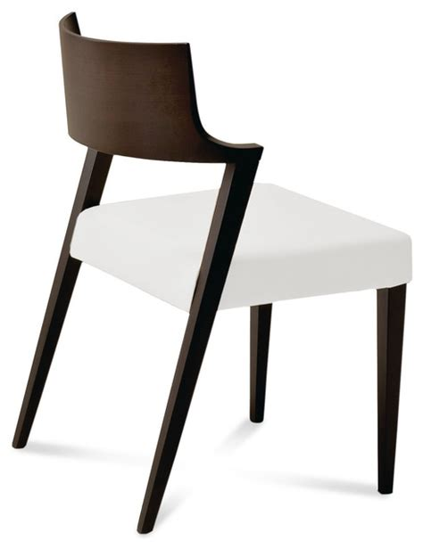lirica dining chair white leather set of 2 modern