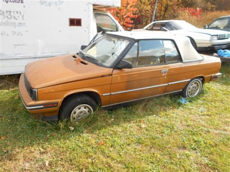 1985 Renault Alliance Convertible For Parts Or Restore