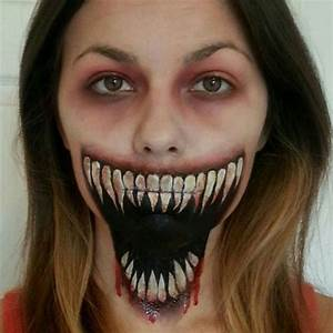 15+ Scary Halloween Mouth, Teeth & Half Face Makeup For ...