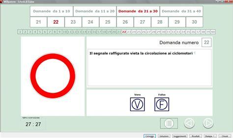 simulazione test ingresso informatica webpatente simulazione quiz patente a b computer e web