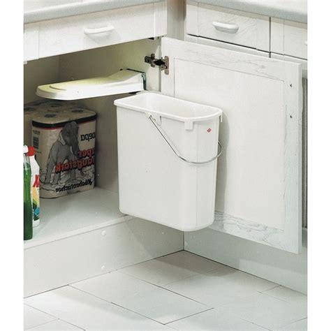 bac poubelle cuisine poubelle de porte de cuisine 1 bac de 19 litres bricozor