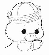 Duck Coloring Pages Cute Toddler Momjunction Printable Cdn2 sketch template