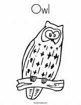 Coloring Girly Owl Adult Teens Template Animal sketch template