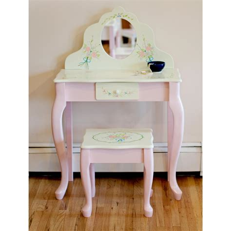 vanity table and stool teamson design bouquet children 39 s vanity table and stool