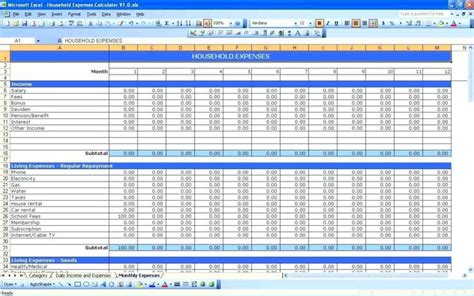 monthly budget spreadsheet templates google easy excel