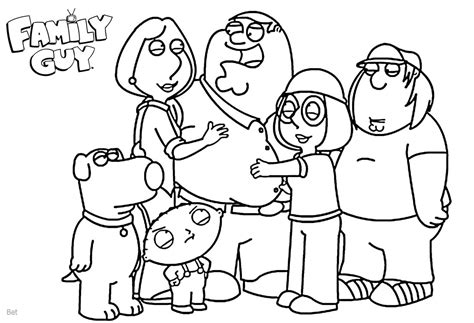 family guy coloring pages family members  printable