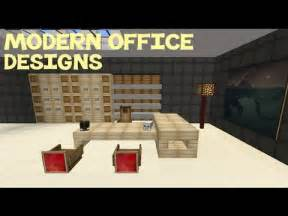 Minecraft Modern Kitchen Ideas by Minecraft Modern Office Designs Youtube
