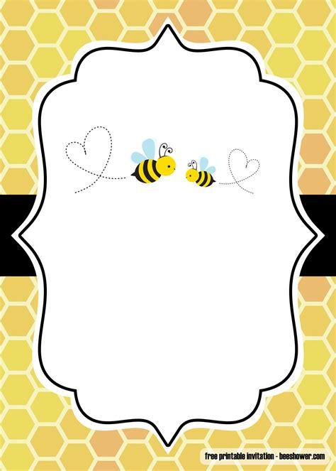 printable bumblebee baby shower invitations bagvania