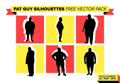 foto de Fat Guy Silhouettes Free Vector Pack Download Free