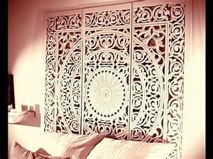 Tete De Lit En Bois Sculpté : tete de lit manava en bois sculpte fait main youtube ~ Dallasstarsshop.com Idées de Décoration