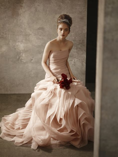 Blush Pink Strapless Bridal Gown From White By Vera Wang