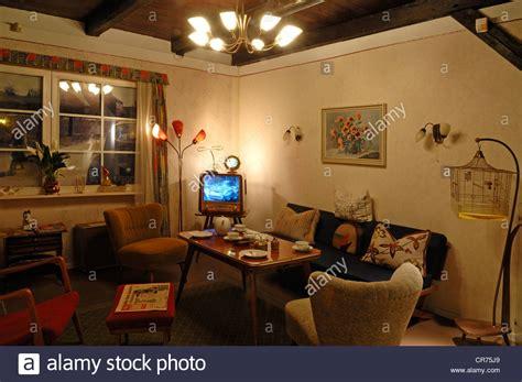 Deutsches Wohnzimmer by 1950s Living Room Stockfotos 1950s Living Room Bilder