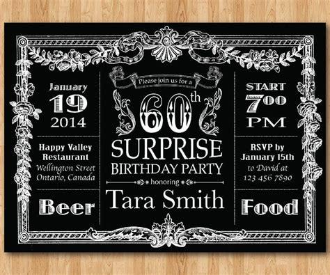 60th Birthday Invitations for Men Bagvania 60th